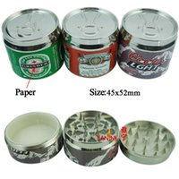 12pcs lot 3 parts Pop- top style tobacco grinder metal GRINDE...