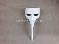 Wholesale- AKI7 White mask colored drawing masks diy mask lon...