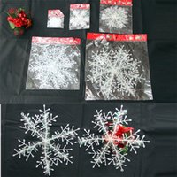 Christmas plastic Snowflake christmas trees decorations Xmas...