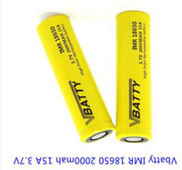 High Quality IMR 18650 Battery Cell 3. 7V 2000mah 15A for Ele...