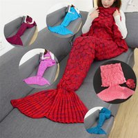 9Colors 180*90cm Mermaid Tail Blankets Mermaid Tail Sleeping...
