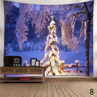 Christmas Tapestries Wall Hanging Holiday Theme Winter Snowm...