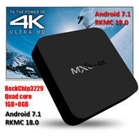 Android 7. 1 TV Box MXQ 4K RK3229 Smart TV Box RKMC 18. 0 H. 26...