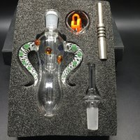 DHL Free Nectar Collector 4. 0 Kit 14mm Joint Ox Horn Shap Ho...