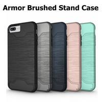 For iphone XR XS 8 2 in 1 Hybrid Shockproof Stand Armor Brus...
