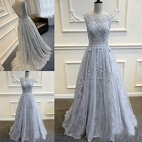 Luxurious Scoop Long Evening Dresses Prom Dresses Tulle Back...