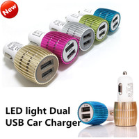 Universal Blue LED Light Dual USB Port Car Charger Double US...
