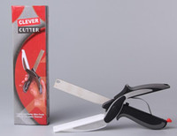 Clever Cutter 2 in 1 Stainless Steel Kitchen Scissors With S...