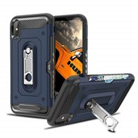 For iPhone Xs Max Case Dual Layers Wallet Card Slot Kickstan...