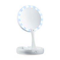 My Fold Away Make Up LED Mirror 360 Degree Rotation Touch Sc...