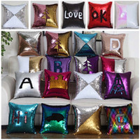 25 Designs Sequin Pillow Case Cover Mermaid Pillow Cover Bli...