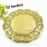 (100 pieces pack) New arrivals 12 inches gold colored round ...