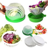 60 Seconds Salad Cutter Bowl Fruit Vegetable Washer Easy Sal...