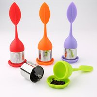 Silicone Tea Infuser Leaf Handle Stainless Steel Strainer In...