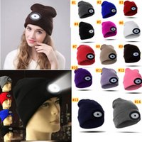 LED Headlamp Beanie Cap Rechargeable Lighted Hat With LED He...