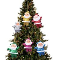6 Pcs Christmas Ornaments Santa Claus Party Xmas Tree Hangin...