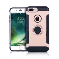 For iPhone 8 Plus Case Car Magnetic Kickstand 360 Degree Rin...