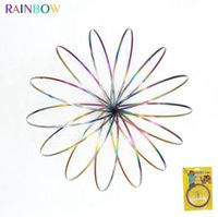 Rainbow Toroflux Magic Ring Flowtoy Amazing Flow Ring Toys K...