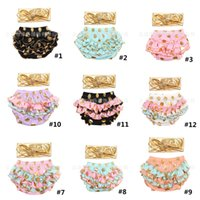 Baby Clothing Newborn Bloomers with Headbands Baby Infant Po...