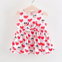 2018 baby girls dress summer infant girls cute print tutu dr...