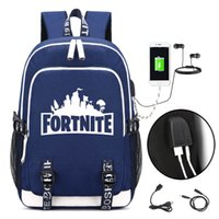 Fortnite Battle Royale Backpack with USB Charging Port and L...
