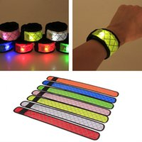 Led Wristband Sport Slap Wrist Strap Bands Light Flash Brace...