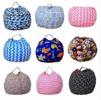 Storage Stuffed Animal Storage Bean Bag Chair Portable Kids ...
