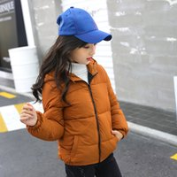 children' s down coat girls in the big children' s w...