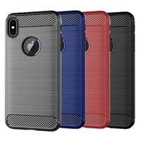For iPhone Xs Max Case Carbon Fiber Texture Back Cover Soft ...