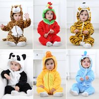 INS Hot Styles Animal Designs Newborn Rompers 11 styles Flan...