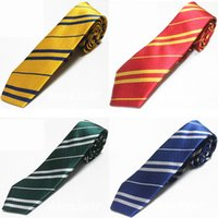 Kids Harry Stripe Ties Potter Gryffindor Neck Ties WITH Badg...