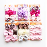 Baby Lace flower Hair band Knot Bows Wave point headband 3pc...