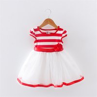 Baby Girls Summer Clothing Dress Stripe Printed Sleeveless F...