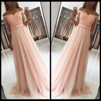 Peach 2019 Prom Dresses A Line Half Sleeve Tulle Lace Beaded...