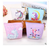 Women Purse Bags Unicorn Girls Zipper Wallet PU Kids Small C...
