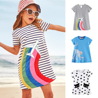 Kids Short Sleeve Dresses 18 months - 6 years old Kids Summer...