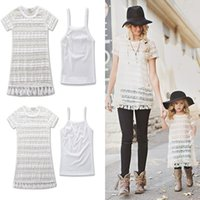 Mother and Daughter Clothes Tassel Lace Dresses + Camisole 2...