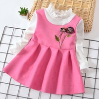 2018 spring autumn baby girls dress kids clothes Formal wear...