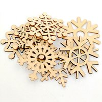 10pcs Assorted Wooden Snowflake Christmas Placemat Wooden Ca...
