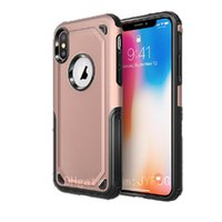 For iPhone Xs Max Case 2in1 Heavy Duty Hard PC Soft TPU Shoc...
