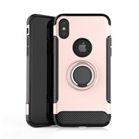 For iPhone Xr Case Car Magnetic Kickstand 360 Degree Ring Ho...