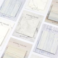 30 Sheets set Marble Stone Color Stickers Bookmark Post it M...