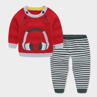 2018 baby boys clothing sets fashion newborn sweater+ striped...