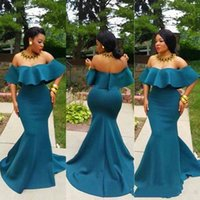 Elegant Black Girls Off Shoulder Mermaid Prom Dresses Short ...
