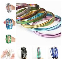 Metal Toroflux Rainbow Colorful Flow Ring Toy 10 Colors Holo...