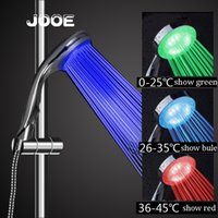 Jooe Water temperature led shower head 3 colors change with ...