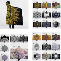 Religious Blankets 3D Printed Cloak Sherpa Hooded Blanket Ki...