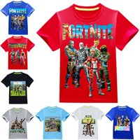 Boys Girls fortnite t shirts 36 colors 3~14 years old kids s...