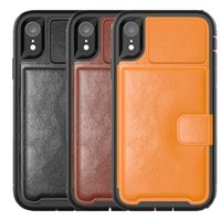 For iPhone XS XR XS Max Case Multifunction Wallet Leather TP...