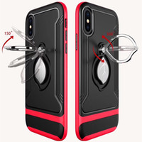For iP XS Max iP XR Magnetic Phone Case With 360 degree rota...